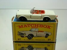 LESNEY MATCHBOX 27 MERCEDES BENZ 230SL - VERY GOOD CONDITION IN BOX