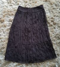 Ladies size 12 Marks and Spencer brown sequinned stunning skirt. BNWOT. Light.