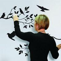 DIY Bird and Tree Branch Wall Sticker Removable Decal Home Mural Room Decor - SS