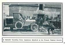 1916 Splendid Travelling X-ray Apparatus Attached To French Medical Service
