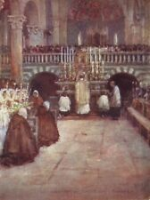 FIESOLE. First communion of the Children, in the Cathedral. Italy 1905 print