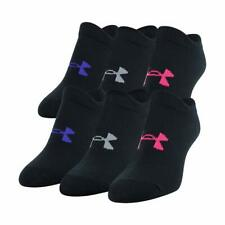 Under Armour Youth Essential 2.0 No Show Socks, 6-Pairs