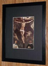 """Incorniciato 12"""" x16"""", El Greco, CRISTO in CROCE, i comandanti dipinti, BIBBIA DIPINTI"""