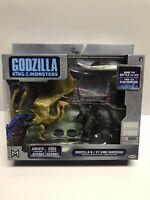 Godzilla King Of Monsters Vs King Ghidorah 2 Pack Action Figures Jakks Nib Nice