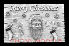 3d Model Stl For Cnc Happy New Year Aspire Merry Christmas Santa Claus D744