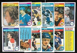 1982-83 OPC O PEE CHEE HOCKEY CARD & ERROR VARIATION 265-396 & WRAPPER SEE LIST
