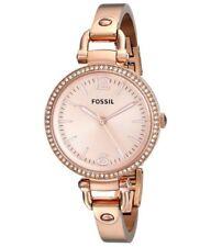 ES3226 New Genuine Fossil Georgia Rose Steel Bangle Watch  RRP £135