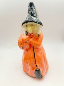 NOS Vintage Large GURLEY Candle Co Halloween Witch Candle Mid-Century 1960's
