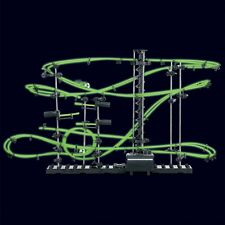 Glow In The Dark Space Rail Race 10m Marble Run Track Construction Toy Set Kit