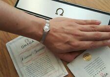 Omega Antique 14K White Gold Elegant Diamond Mechanical Ladies Watch