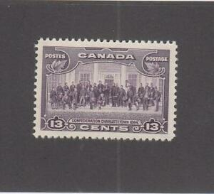 CANADA (MK5473)  # 224  VF-MH  13cts  1935 CHARLOTTETOWN  /VIOLET  CAT VALUE $13