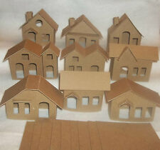 Vintage Putz Style Houses - Vintage Set of 9 Houses