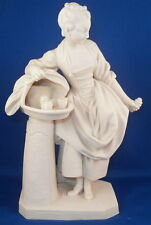 Antique Sevres Porcelain Biscuit / Bisque Girl Figurine Figure Porzellan Figur