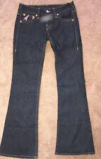 True Religion Brand Jeans Women's Designer Boot Cut Bottom Denim Pants Size 30