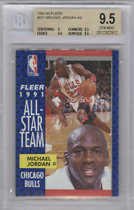 1991-92 Fleer #211 Michael Jordan AS BGS 9.5 GEM MINT   9/9.5/9.5/9.5