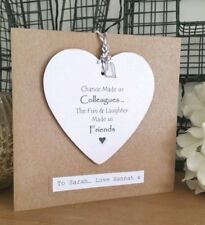 chance made us colleagues Personalised Plaque Card leaving gift Charming Cards