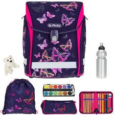 Schulranzen Mädchen Herlitz Midi Plus Rucksack 7T Set Bag Rainbow Butterfly efk