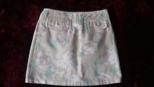 WAREHOUSE - WOMENS - BEIGE FLORAL/STRIPED  PATTERNED SKIRT - SIZE 8