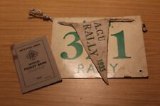 Auto Cycle Union ACU Rally 1935 Official Pocket Book, Pennant & Competition No.