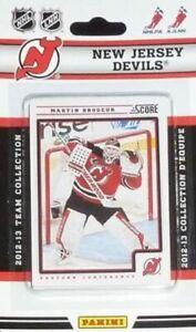 New Jersey Devils 2012 2013 SCORE Factory Sealed Team Set  Martin Brodeur Plus