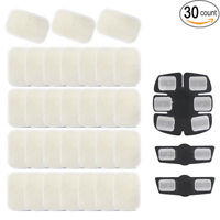 Ab Gel Pads 30 Pack Abs Trainer Replacement Sheets Abdominal Toning Belt Muscle