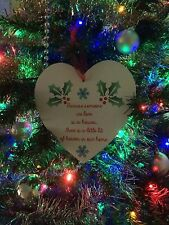 HEART WOOD PLAQUE CHRISTMAS BECAUSE SOMEONE WE LOVE IS IN HEAVEN REMEMBRANCE