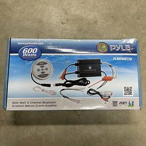Pyle 2-Ch Bluetooth Marine Amplifier Kit, AUX/RCA/MP3 Audio Input PLMRMBT5B