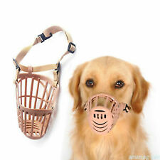 Adjusting Basket Muzzle Pet Dog New 1Pc Plastic Strong Small Dogs *Pink*
