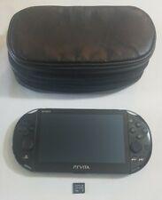 Sony Playstation PS Vita Model PCH-1001 Black w 4GB Card and Soft Case!!  3.73