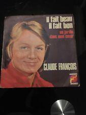Vinyle, 45 tours : CLAUDE FRANÇOIS, Un jardin dans mon cœur