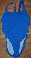 Jantzen Swimsuit One Piece - size 12 - Light Blue - Classic Vintage Diving Logo