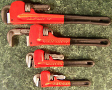 4pc Heavy Duty PIPE WRENCH SET with Rubber GRIPS 4 Sizes big wr monkey steel new