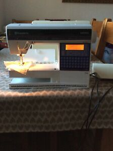 Husqvarna Viking Lily 555 sewing machine Embroidery Computerised Fully Serviced