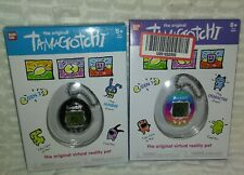 """9""""Set of 2 2018 3"""" Tamagotchi Toys in Boxes With New LR44 Button Batteries"""