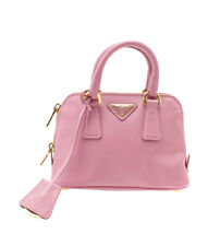 Prada BL0851 Saffiano Lux Mini Pink Leather 2- Way Satchel Bag