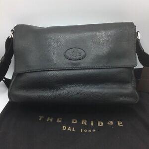 The Bridge - borsa pelle nera tracolla - Nuova Con Etichetta