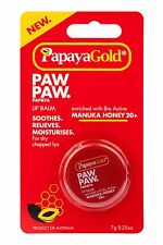 PapayaGold Paw Paw Lip Balm Pot With Manuka Honey & Papaya