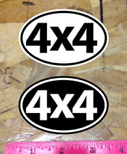 4x4 Off Road Oval sticker Decal Black and White - 2 for 1 - 3-1/2""