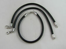 17cm BLACK GENUINE SMOOTH LEATHER LOBSTER CHAINS FOR EURO STYLE CHARM BRACELETS