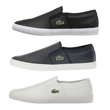 Lacoste Gazon BL 1 Men's Casual Leather Loafer Shoes Sneakers Black Blue White
