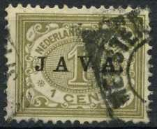 Netherlands Indies 1908 SG#143, 1c Optd With Java Used #E12165
