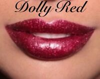 High Shine, Long Lasting, Glitter Lipstick- DOLLY RED, Glitter Lips