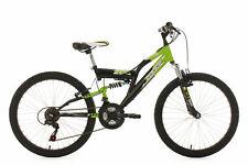 """VTT Enfant 18 Vit Tout Suspendu 24"""" Zodiac Noir-Vert TC 38 cm KS Cycling 605K"""