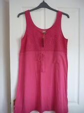 MANTARAY HOT PINK CROCHET TRIM JERSEY SUN DRESS. UK 14, EUR 40-42, US 10. BNWT