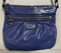 Coach Womens Purse Poppy Daisy Blue Liquid Gloss Crossbody Bag F22147