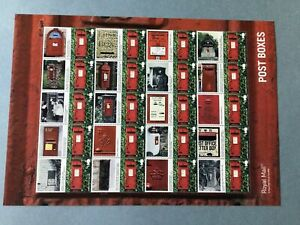 Royal Mail post Boxes mint never hinged Smilers Stamp Sheet 55666