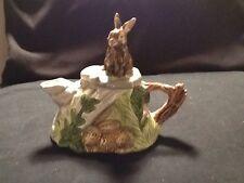 Ceramic Teapot With Rabbit On Top Small Teapot