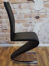 4er set cantilever Arctic Noir salle à manger chaise chaises lehnstühle sièges