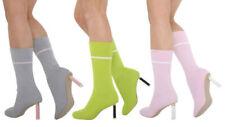 Scarpe da donna stiletti stivali al ginocchio con tacco medio (3,9-7 cm)