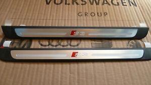 Audi A3 S3 8V door sill trim strip new genuine original pair, 2013 - 2016